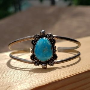 Turquoise Sterling Silver Native American Bracelet
